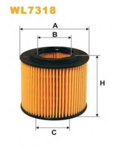 Фильтрующий элемент масляного фильтра WL7318 WIX FILTERS