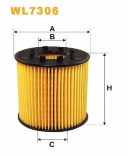 Фильтрующий элемент масляного фильтра WL7306 WIX FILTERS