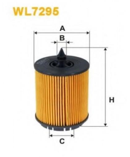 Фильтрующий элемент масляного фильтра WL7295 WIX FILTERS