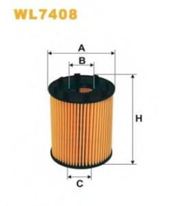 Фильтрующий элемент масляного фильтра WL7408 WIX FILTERS