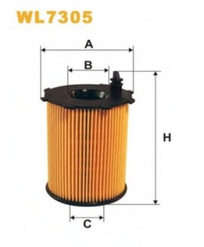 Фильтрующий элемент масляного фильтра WL7305 WIX FILTERS
