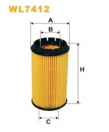 Фильтрующий элемент масляного фильтра WL7412 WIX FILTERS